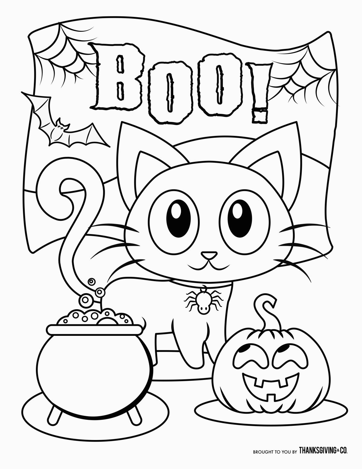 Halloween Coloring Pages Animals - sheapeterson